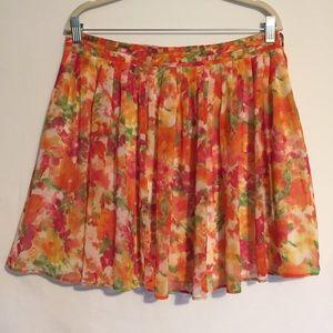 F21 Floral Spring Skirt